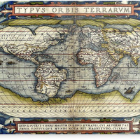 World map from the first modern atlas by Ortelius by JBJart