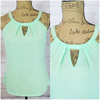 ALL THAT GLAM CHIFFON TOP IN MINT