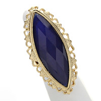 Blue Cabochon Gold Ring