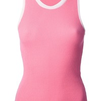Moschino Cheap & Chic Ribbed Vest Top