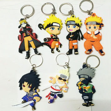Naruto action figure keychain toys 2016 New Japanese Anime Naruto sasuke uzumaki naruto akatsuki madara figurines Collection toy