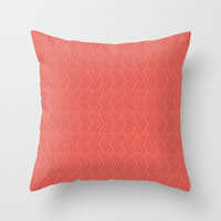 Coral Arrow Throw Pillow by C Designz