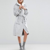 New Look Frosted Fluffy Robe at asos.com