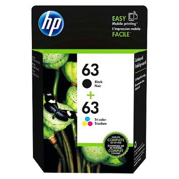 HP 63 Single & 2pk Ink Cartridges - Black, Tri-color