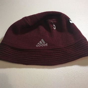 CUPUPI8 BRAND NEW ADIDAS MAROON SMALL/MEDIUM KNIT HAT SHIPPING