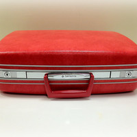 Vintage Suitcase Red Samsonite Silhouette by vintage19something