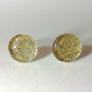 Glitter Earring, Nail Polish Jewelry, Glitter Jewelry, Nickle Free Earring, Glitter Nail Polish, Glitter, Gold Earrings, Stud Earrings