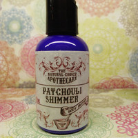 Patchouli Shimmer Body Butter - VEGAN, Organic, Natural Lotion - 2 oz Travel Size Handmade by The Natural Choice Apothecary