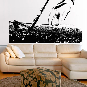 Vinyl Wall Decal Sticker Setting up the Tee #5102