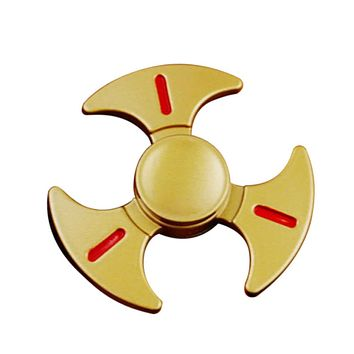 New Style Metal EDC Hand Fidget Tri Finger Spinner Gadgets Focus Tool Desk Toy Spin Widget for ADD ADHD Children Adults Relieve Stress Anxiety