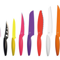 One Kings Lane - Cook in Color - 10-Pc Knife Set, Multi
