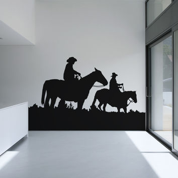 Vinyl Wall Decal Sticker Horseback Riding #OS_AA439