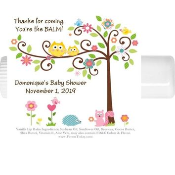 15 Happi Tree Owl Lip Balm Baby Shower and Birthday Party Chap Stick Favors