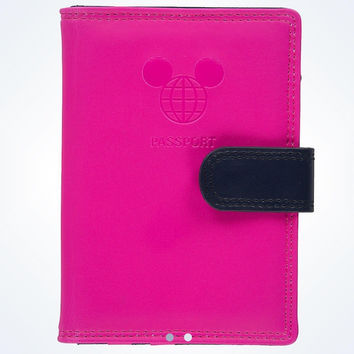 disney parks TAG collection mickey mouse pink passport wallet new with tags