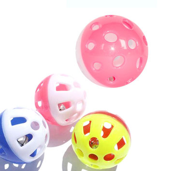 Interesting Tinkle Bell Ball Pet Toy Plastic Dog Cat Playing Ball Funny Toys Pet Products