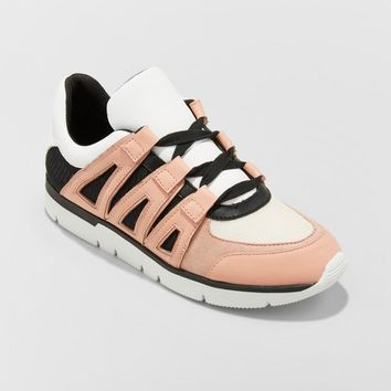 Women's Karlo Lace Up Sneakers - A New Day™ Blush