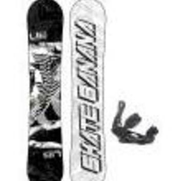 Lib Tech Skate Banana Wide Snowboard w/ Burton P1.1 Bindings