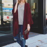 Morning Frost Cardigan - Wine