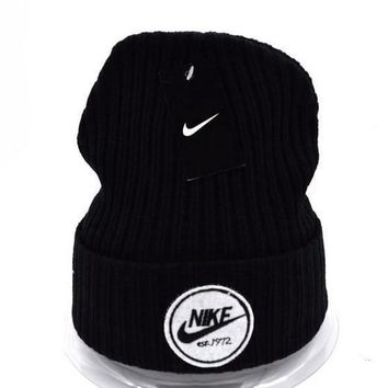 Nike Women Men Embroidery Beanies Winter Warm Knit Hat Cap-14
