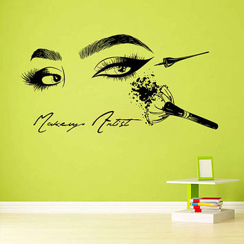 Eyes Wall Decals Eyelashes Wall Decals Make Up artist Beauty Salon Tools Make Up Wall Decals Eyes Wall Decor Beauty Salon Wall Decor kik3411
