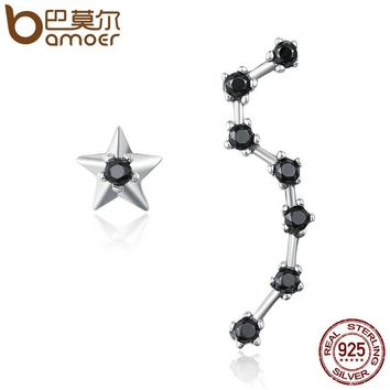 Authentic 925 Sterling Silver Star & Dipper Constellation Drop Earrings for Women Fashion Jewelry Gift Bijoux SCE166