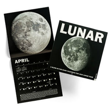 Lunar Glow-in-the-dark 2016 Wall Calendar
