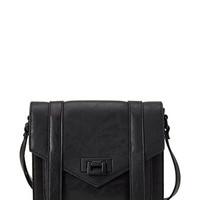 FOREVER 21 Faux Leather Envelope Satchel Black One