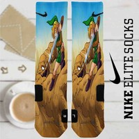 The Legend of Zelda A Link to the Past Battle Custom Nike Elite Socks