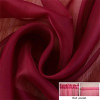 Tulle Window Screening Blinds Sheer Voile Gauze Curtain for Cafe Kitchen Living Room Balcony Decor