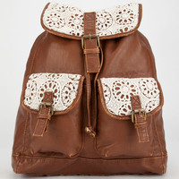 T-Shirt & Jeans Kenny Crochet Trim Backpack Cognac One Size For Women 26014940901
