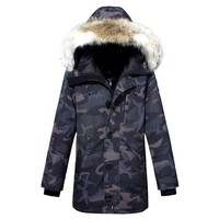 ONETOW - Brand:Canada Goose- Gender: Unisex-Color:Blue,Army Green- Season: Spring Autumn Winter- Style: Casual- Material: Cotton