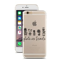 for iPhone 5C - Super Slim Case - Plants Are Friends - Flowers - Cactus - Nature - Doodle - Drawing - Sketch