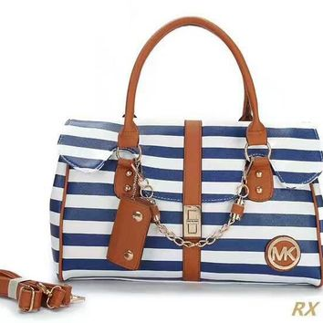 MK Stripe Luggage Travel Bags Tote Handbag H-LLBPFSH