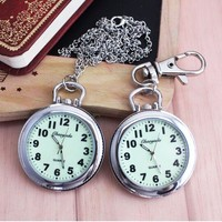 New Fashion Clip Nurse Doctor luminous Pendant Pocket Watches Quartz Red Cross Brooch Nurses Watch Fob Hanging Medical Watch