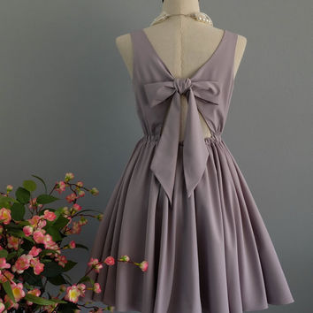 A Party V - Lolita Dress Sweet Lolita Backless Dress Pale Gray Bridesmaid Dress Pale Gray Party Dress Gray Summer Dress XS-XL