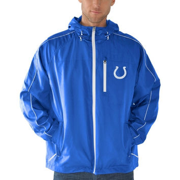 Indianapolis Colts Timeout Full Zip Hooded Jacket - Royal Blue