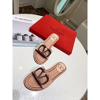 Valentino Popular Summer Women's Flats Men Slipper LV Sandals Shoes