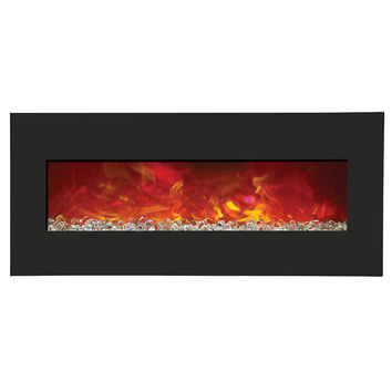 Amantii Advanced Built-in/Wall Mount Electric Fireplace (WM-BI-43-5123-BLKGLS)