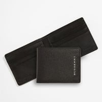 Men's Burberry Small Billfold Wallet - Black