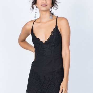Playful Diamond Crochet Romper
