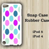 Stylish Color  iPod Touch 5 and iPod Touch 4 Rubber Case or Plastic Case