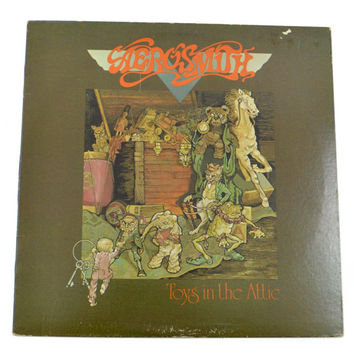 Vintage 70s Aerosmith Toys in the Attic Album Record Vinyl LP