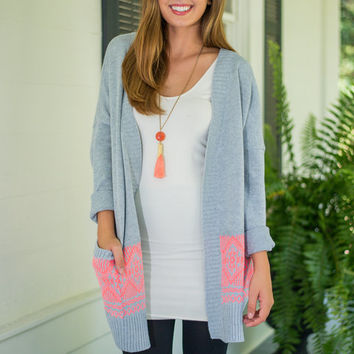 No Doubt About It Cardigan, Gray