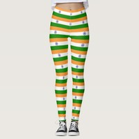 Leggings with flag of India