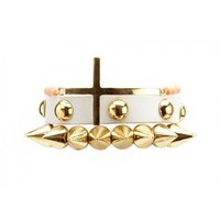 Spike, Stud & Cross Bracelet Set