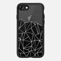 Abstract Grid Outline White Transparent iPhone 7 Case by Project M | Casetify