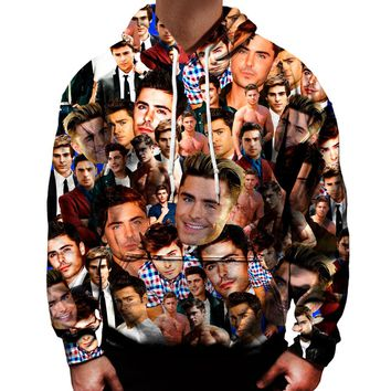 Zac Efron Collage Hoodie