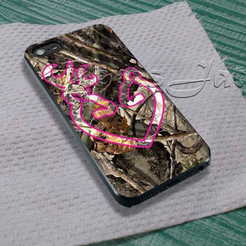 Love Browning Deer Camo Pink For - iPhone 4 4S iPhone 5 5S 5C and Samsung Galaxy S3 S4 S5 Case