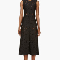 Roksanda Black Laser-cut Ocala Dress