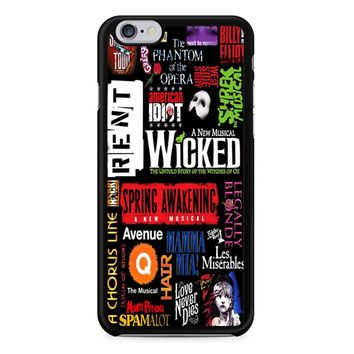 Famous Broadway Musiacal Plays Collage iPhone 6/6S Case